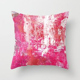 Roses Play Color On Ice Throw Pillow