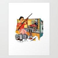 feminism Art Prints featuring Feminism  by Protogami
