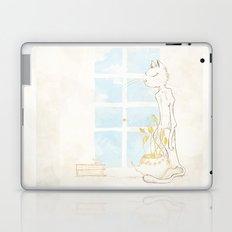 Cat Smelling Flower Laptop & iPad Skin