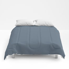 Sherwin Williams Trending Colors of 2019 Distance (Dark Muted Sky Blue) SW 6243 Solid Color Comforters