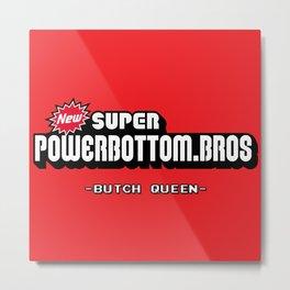 BQ - Super Power Bottom Bros Metal Print