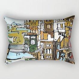 I Balconi di La Valletta Rectangular Pillow