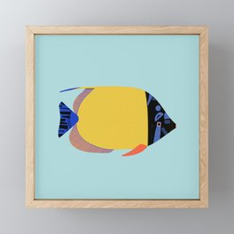 Yellow Fish Framed Mini Art Print