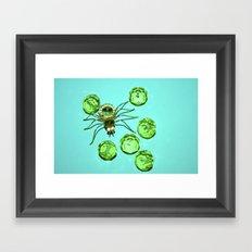 Spider & Diamonds Framed Art Print