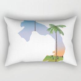 Panama map travel poster. Rectangular Pillow