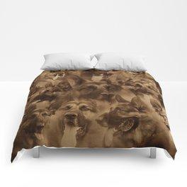 German Shepherd Dog collage Comforters