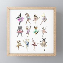 Animal Square Dance Framed Mini Art Print