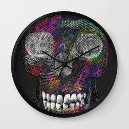 Black Blood Skelly Wall Clock