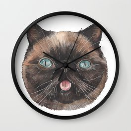 Der the Cat - artist Ellie Hoult Wall Clock