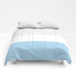 Marble White Light Blue Comforters