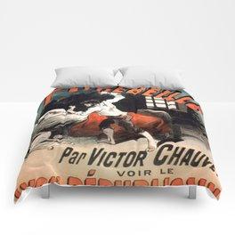 Vintage poster - Les Crimes de Peyrebeille Comforters