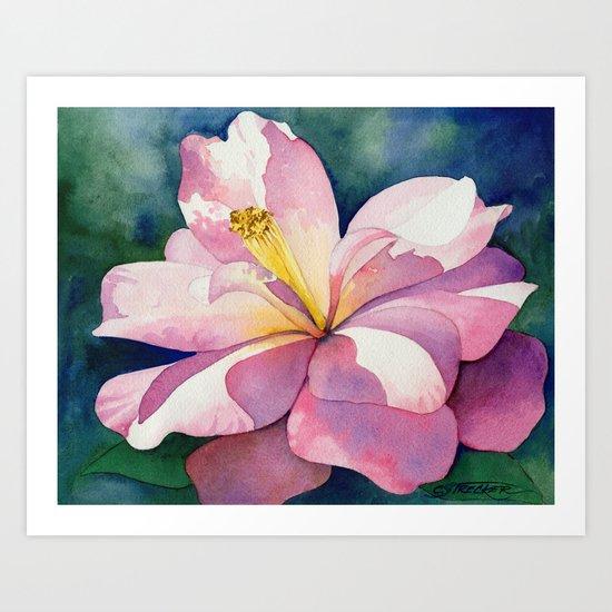 Camellia - Pretty in Pink Art Print