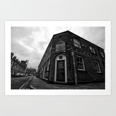 Corner pub Art Print