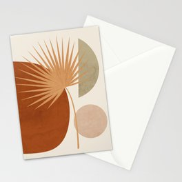 Tropical Leaf- Abstract Art 14 Stationery Cards