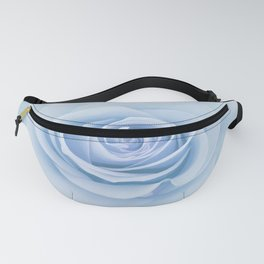 Soft Baby Blue Rose Abstract Fanny Pack