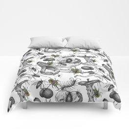 Bug Creepy Crawly Rotten Fruit Illustrative Design Comforters