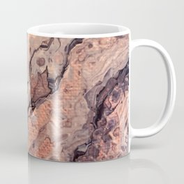 Rose Gold, Black, Grey, and White Paint Pour Waves Coffee Mug