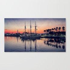 Bay Side Sunset Canvas Print