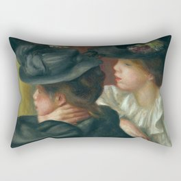 "Auguste Renoir ""At the Theatre, the Box"" Rectangular Pillow"