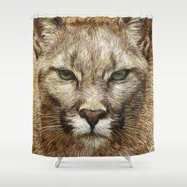 Animaline - Cougar Shower Curtain