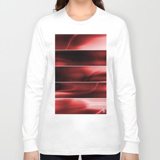 Red Plasma Storm (Five Panels Series) Long Sleeve T-shirt