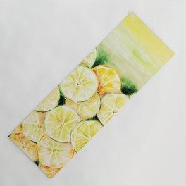 Limes and lemons Yoga Mat