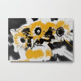 Sunflowers in vase Metal Print