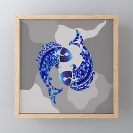 Pisces solid Framed Mini Art Print