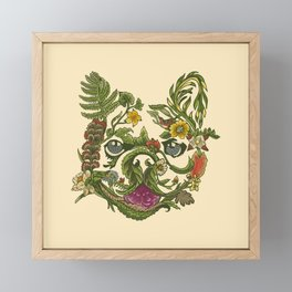 Botanical French Bulldog Framed Mini Art Print