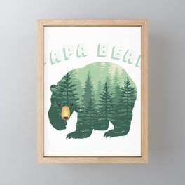 Forest Papa Bear for Dad Daddy or Father Family Fun Framed Mini Art Print