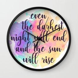 Darkest Night Wall Clock
