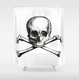 Skull and Crossbones | Jolly Roger Shower Curtain