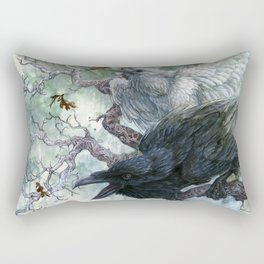 Thought and Memory Rectangular Pillow