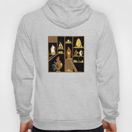 Chicken Coop - chickens, farm, illustration, birds Hoody