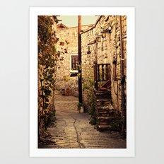 Omodos Cyprus Alley Art Print
