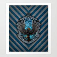 Hogwarts House Crest - Ravenclaw Film Art Print