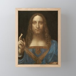 Price Slashed on 450M Leonardo da Vinci Salvator Mundi Framed Mini Art Print