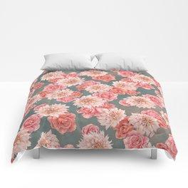 Roses&Dahlias pattern Comforters