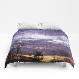 Winter Sunset Comforters