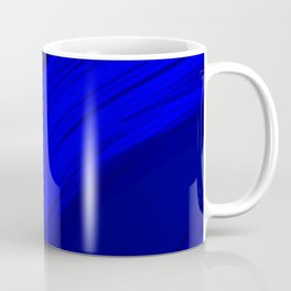 Semicircular sections of blue metal with rays of light and strings. Coffee Mug