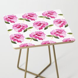 Pink Flower Side Table
