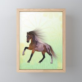 A horse, a friend Framed Mini Art Print