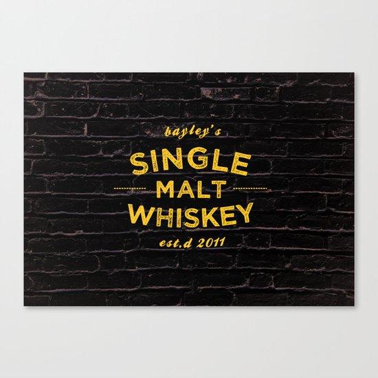 Single Malt Canvas Print