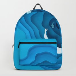 Abstract Deep Sea Surface with Fishes Backpack