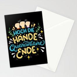 Hoch Die Hände Quarantäne Ende Stationery Cards