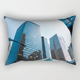 Downown Calgary Business District Office Towers Rectangular Pillow