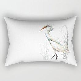 Mr Kotuku , New Zealand White Heron Rectangular Pillow