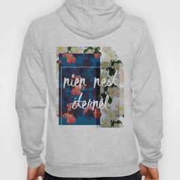 Rose print with french slogan. Hoody