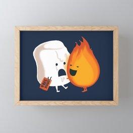 Friendly Fire Framed Mini Art Print