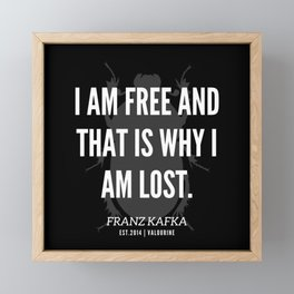 7  |  Franz Kafka Quotes | 190517 Framed Mini Art Print